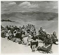 A Group of Polish Exiles Rest on the Soviet-Iranian Border