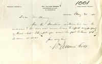 Cover note from Attorney William A. Short to Trustees of Sailors' Snug Harbor