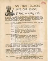 Save Our Teachers Save Our Schools