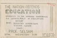 The Nation Defends Education