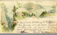 Anthony's Nose, Hudson River, Pallisades [sic], Washington's Headquarter [front caption] (1 front) [h0026ac1]