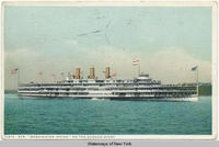 "STR. ""WASHINGTON IRVING"" ON THE HUDSON RIVER [front caption] (1front) [h0019ac1]"