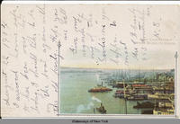 NEW YORK HARBOR FROM BROOKLYN BRIDGE [front caption] (1front) [h0087ac1]