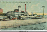 Fire Boat New Yorker, Battery Landing, New York [front caption] (1front) [h0059ac1]