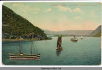 HUDSON RIVER, SOUTHWEST FROM WEST POINT [front caption] (1front) [h0074ac1]