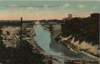 View of Erie Canal from N.Y.C. Bridge, Lockport, N.Y.[front caption] (1front) [e0189ac1]