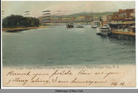 View of River Looking North From Congress Street Bridge, Troy, New York [front caption] (1front) [h0098ac1]