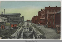 VIEW OF LOCK ON OSWEGO CANAL, PHOENIX, New York, [hand-printed front caption] (1front) [w0013ac1]