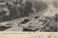 The Locks and N.Y.C.R.R. Bridge-Lockport, N.Y. [front caption] (1front) [e0188ac1]