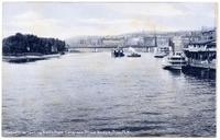 View of River Looking North from Congress Street Bridge, Troy, N.Y. [front caption] (1front) [h0145ac1]