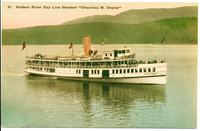 "Hudson River Day Line Steamer ""Chauncey M. Depew"".  [front caption] (1 front) [h0155ac1]"