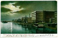 Hudson River, Night Scene, Collar District, Troy, N.Y. [front caption] (1front) [h00156ac1]