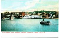 Hudson River, Steamboat Landing, Congress St. Bridge, Troy, N.Y. [front caption] (1front) [h0152ac1]