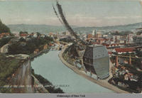 "VIEW OF ERIE CANAL FROM ""LOVER'S LEAP"". LITTLE FALLS, N.Y. [front caption] (1front) [e0161ac1]"