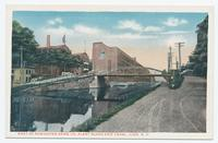 PART OF REMINGTON ARMS CO. PLANT ALONG ERIE CANAL, ILION. New York [front caption] (1front) [e0548ac1]