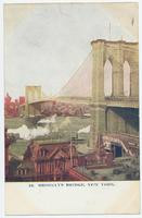 BROOKLYN BRIDGE, NEW YORK. [front caption] (1front) [h0168ac1]