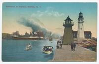 Entrance to Harbor, Buffalo, N.Y. [front caption] (1front) [e0529ac1]