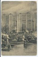 HUDSON COMPANY'S BUILDINGS from Hudson River [front caption] (1front) [h0173ac1]