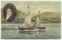 "On August 17, 1808, the first steamboat, Rob't Fulton's ""Clermont"" [portion of front caption] (1front) [h0182ac1]"
