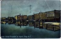 Collar Factories at Night, Troy, N.Y. [front caption] (1front) [h0120ac1]