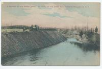 A SECTION OF THE BARGE CANAL. AT WORK ON THE DWAS KILL, OPPOSITE STILLWATER, N.Y. [front caption] (1front) [b0053ac1]