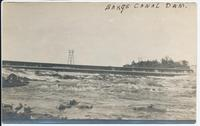 BARGE CANAL DAM. [handwritten front caption] (1front) [b0061ac1]