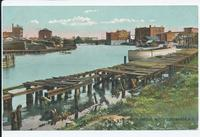 VIEW OF HARBOR, NORTH TONAWANDA, N.Y. [front caption] (1front) [e0563ac1]
