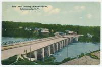 Erie Canal crossing Mohawk River, Schenectady, New York [front caption] (1front) [e0557ac1]