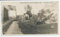 Dipper Dredge at Work on Barge Canal, Fort Ann, N.Y. [front caption] (1front) [b0060ac1]