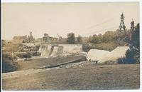 Canal dam with utility poles (1front) [b0059ac1]