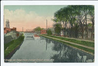 A View up the Canal from George Street, Rome, N.Y. [front caption] (1front) [e0553ac1]