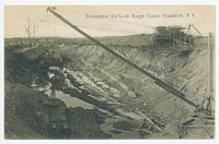 Excavation for Lock Barge Canal, Frankfort, N.Y. [front caption] (1 front) [b0045ac1]