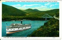 STEAMER BENJAMIN B. ODELL, PASSING THROUGH THE HIGHLANDS [front caption] (1front) [h0158ac1]