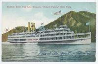 "Hudson River Day Line Steamer, ""Robert Fulton,"" New York. [front caption] (1front) [h0111ac1]"