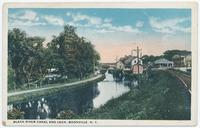 BLACK RIVER CANAL AND LOCK, BOONVILLE, N.Y. [front caption] (1front) [k0002ac1]
