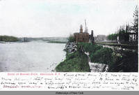 SCENE ON MOHAWK RIVER, AMSTERDAM, N.Y. [front caption] (1front) [e0110ac1]