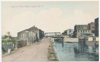 Lock on Erie Canal, Lyons, New York  [front caption] (1front) [e0580ac1]
