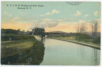 N.Y.C.R.R. Bridge and Erie Canal: Newark, N.Y. [front caption] (1front) [e0081ac1]