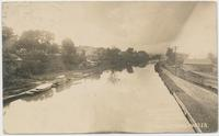 ALONG THE ERIE. AT-FULTONVILLE, N.Y. OPPOSITE FONDA. SUN-DRAWING WATER. [handwritten front caption] (1front) [e0591ar1]