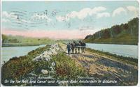 On the Tow Path, Erie Canal and Mohawk River Amsterdam in distance. [front caption] (1front) [e0002ac1]