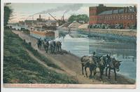 Scene along the Erie Canal at Buffalo, N.Y. [front caption] (1 front)[e0006ac1]
