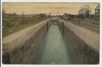 Lock on the Erie Canal, near Utica, N.Y. [front caption] (1front) [e0573ac1]