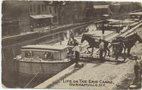 LIFE ON THE ERIE CANAL, DURHAMVILLE, N.Y. [front caption] (1front) [e0007ac1]