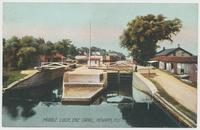MIDDLE LOCK, ERIE CANAL, NEWARK, N.Y. [front caption] (1front) [e0628ac1]
