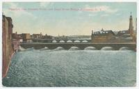 Aqueduct over Genesee River, and Court Street Bridge, Rochester, New York [front caption] (1front) [e0086ac1]