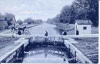 The Old Lock, looking North on the Cayuga Canal, Cayuga, N.Y. [front caption] (1front) [y0002ac1]
