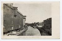 LOOKING NORTH FROM CANAL BRIDGE, FULTON, N.Y. [front caption] (1front) [e0590ac1]
