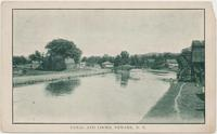 CANAL AND LOCKS, NEWARK, N.Y. [front caption] (1front) [e0082ac1]