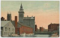 Erie Canal and City Hall, Rochester, N.Y. [front caption] (1front) [e0030ac1]