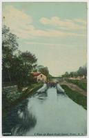 A View up Black River Canal, Rome, N.Y.  [front caption] (1front) [k0015ac1]